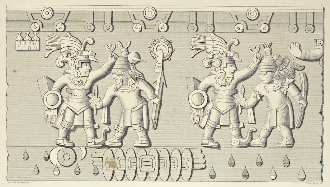 Vues des Cordilleres et Monumens de l'Amerique - Bas-relief azteque trouve a la grande place de Mexico (1813)