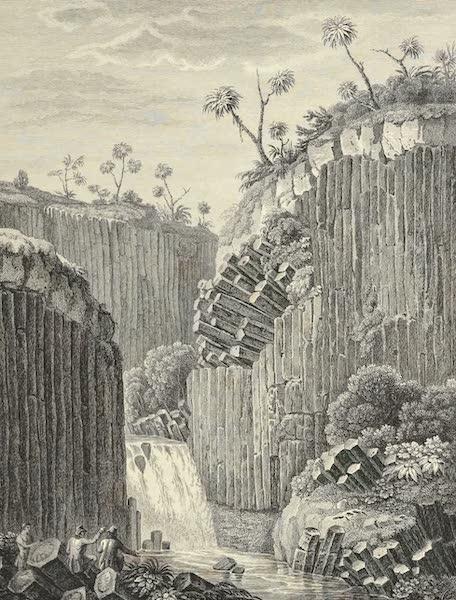 Vues des Cordilleres et Monumens de l'Amerique - Roches basaltiques et Cascade de Regla (1813)