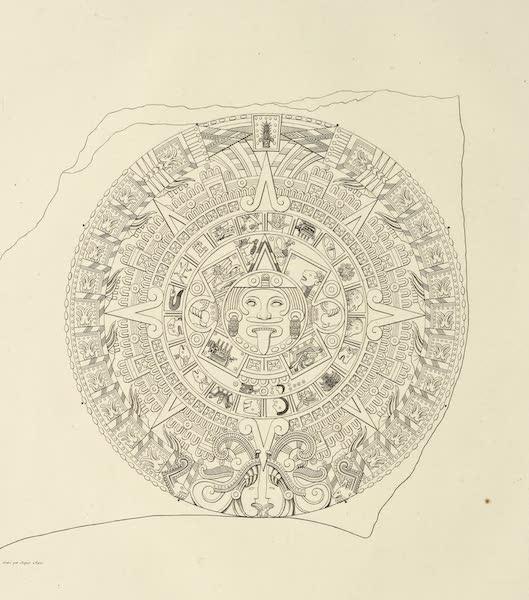 Vues des Cordilleres et Monumens de l'Amerique - Relief en basalte representant le calendrier mexicain (1813)