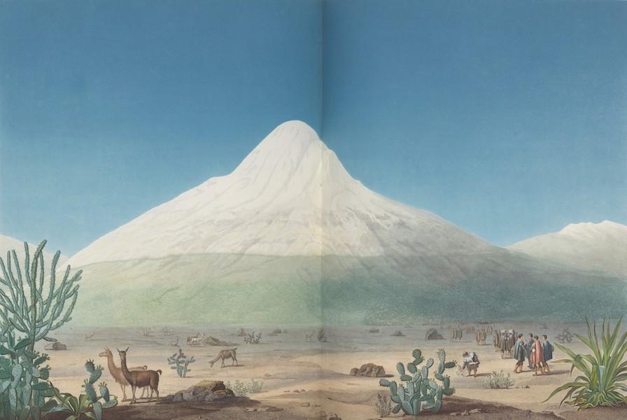 Vues des Cordilleres et Monumens de l'Amerique - Le Chimborazo, vu depuis le plateau de Tapia (1813)