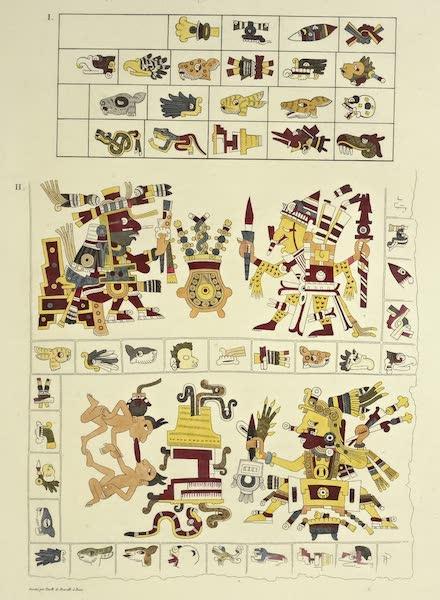 Vues des Cordilleres et Monumens de l'Amerique - Peinture hieroglyphique tiree du manuscrit borgien de Veletri, et signes des jours de l'almanach mexicain (1813)