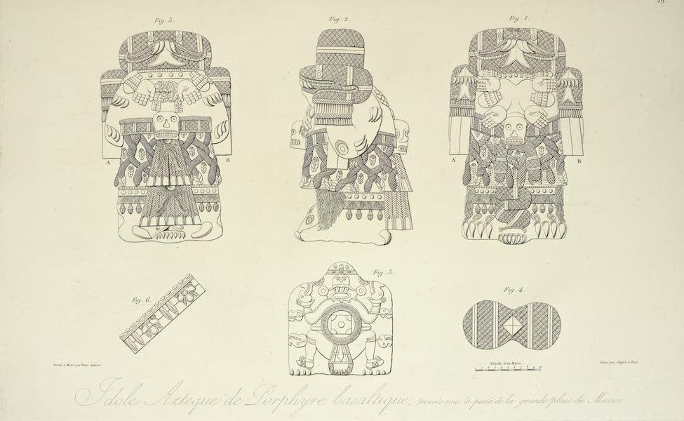 Vues des Cordilleres et Monumens de l'Amerique - Idole azteque de porphyre basaltique, trouveee sous le pave ge la grande place de Mexico (1813)