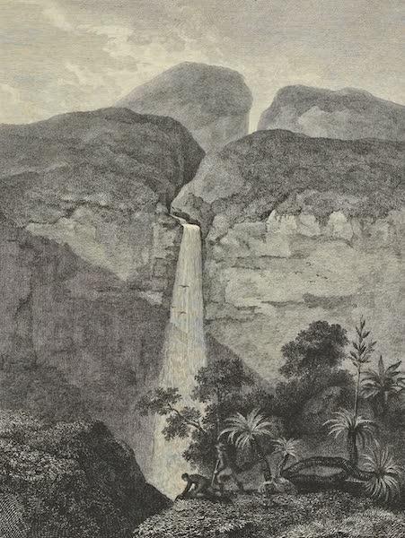 Vues des Cordilleres et Monumens de l'Amerique - Cascade du Rio Vinagre, pres du volcan de Purace (1813)