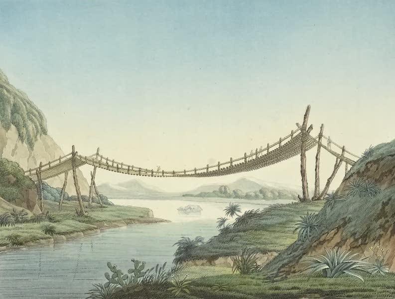 Vues des Cordilleres et Monumens de l'Amerique - Pont de cordage pres de Penipe (1813)