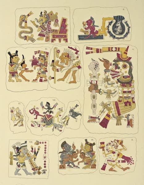 Vues des Cordilleres et Monumens de l'Amerique - Peintures hieroglyphiques du musee Borgia a Veletri (1813)