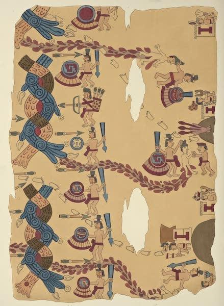 Vues des Cordilleres et Monumens de l'Amerique - Migration des peuples azteques, peinture hieroglyphique deposee a la bibliotheque royale de Berlin (1813)