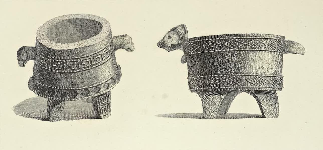 Vues des Cordilleres et Monumens de l'Amerique - Vases de granit trouves sur la cote de Honduras (1813)