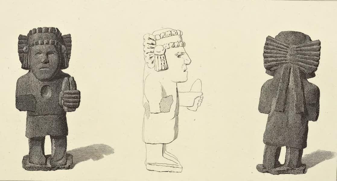 Vues des Cordilleres et Monumens de l'Amerique - Idole azteque, en basalte, trouvee dans la ville de Mexico (1813)