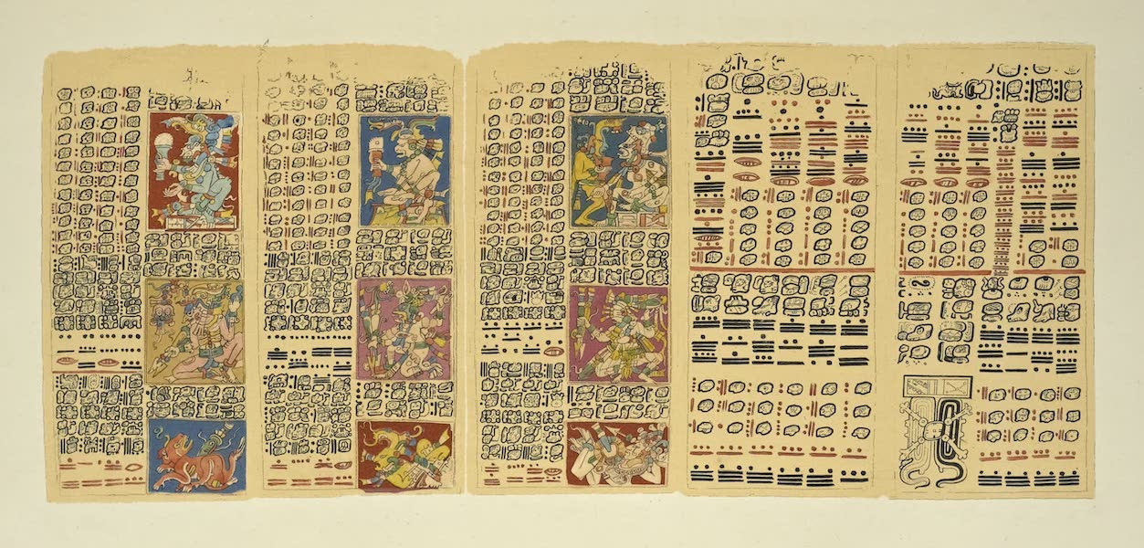 Vues des Cordilleres et Monumens de l'Amerique - Fragment d'un manuscrit hieroglyphique conserve a la bibliotheque royal de Dresde (1813)