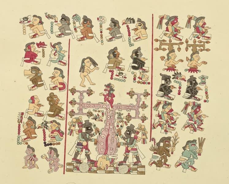 Vues des Cordilleres et Monumens de l'Amerique - Peintures hieroglyphiques tirees du manuscrit mexicain conserve a bibliotheque imperiale de Vienne No. 1 (1813)