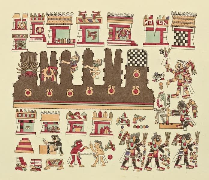Vues des Cordilleres et Monumens de l'Amerique - Peintures hieroglyphiques tirees du manuscrit mexicain conserve a bibliotheque imperiale de Vienne No. 3 (1813)