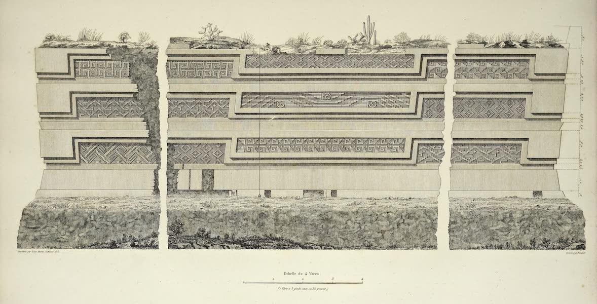 Vues des Cordilleres et Monumens de l'Amerique - Ruines de Miguitlan ou Mitla dans la province d'Oaxaca; plan et elevation [II] (1813)