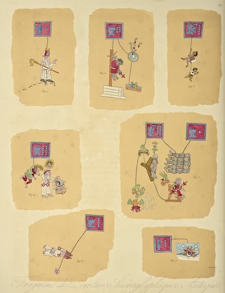 Vues des Cordilleres et Monumens de l'Amerique - Fragmens de peintures hieroglyphiques tires du Codes Telleriano-Remensis [II] (1813)