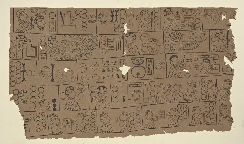 Vues des Cordilleres et Monumens de l'Amerique - Fragment d'un calendrier chretien tire des manuscrits azteques conserves a la bibliotheque royale de Berlin (1813)