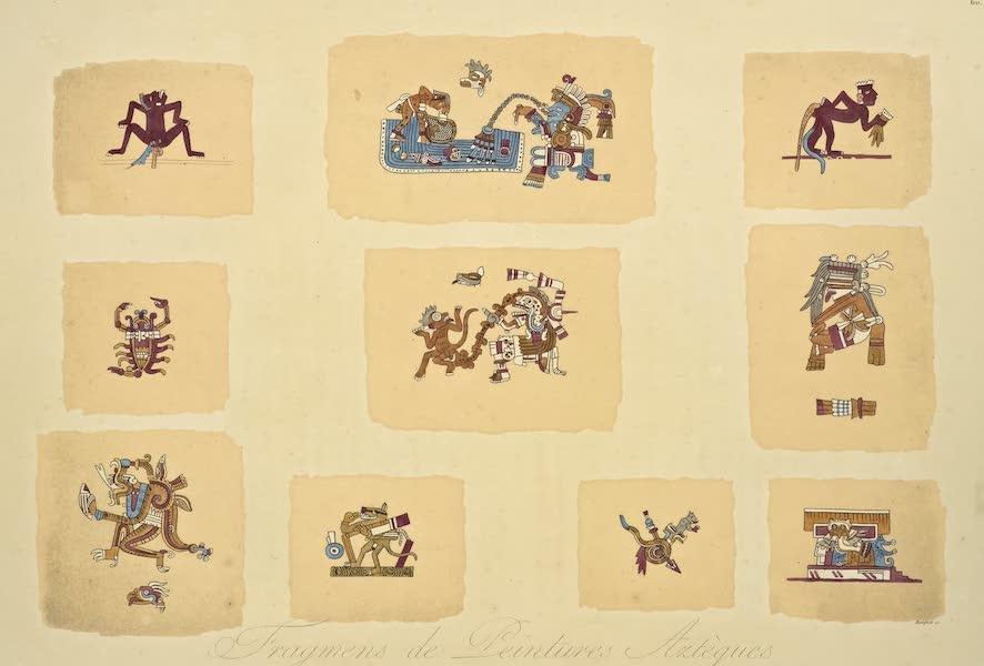 Vues des Cordilleres et Monumens de l'Amerique - Fragments de peintures azteques tires d'un manuscrit conserve a la bibliotheque du Vatican (1813)