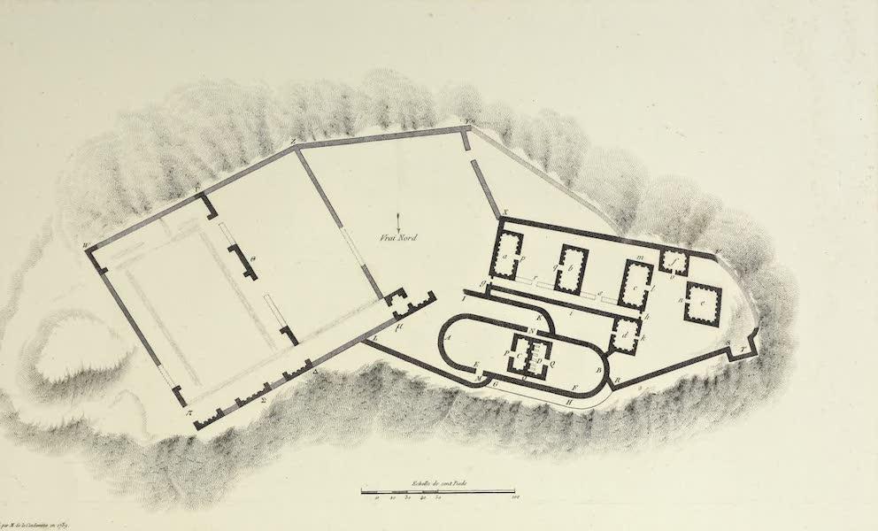 Vues des Cordilleres et Monumens de l'Amerique - Plan d'une maison fortifiee de l'Inca, situee sur le dos de la Cordillere-de l'Assuay (1813)