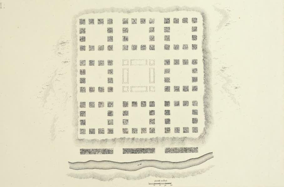 Vues des Cordilleres et Monumens de l'Amerique - Ruines d'une partie de l'ancienne ville peruvienne de Chulucanas (1813)