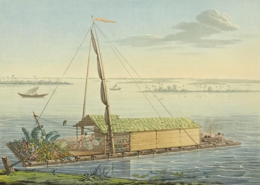Vues des Cordilleres et Monumens de l'Amerique - Radeau de la riviere de Guayaquil (1813)
