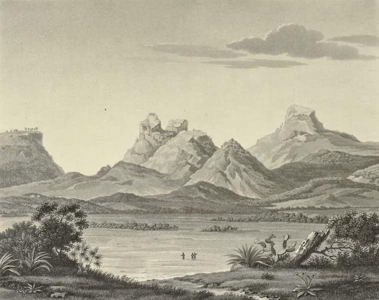 Vues des Cordilleres et Monumens de l'Amerique - Montagnes de porphyre colonnaire du Jacal (1813)