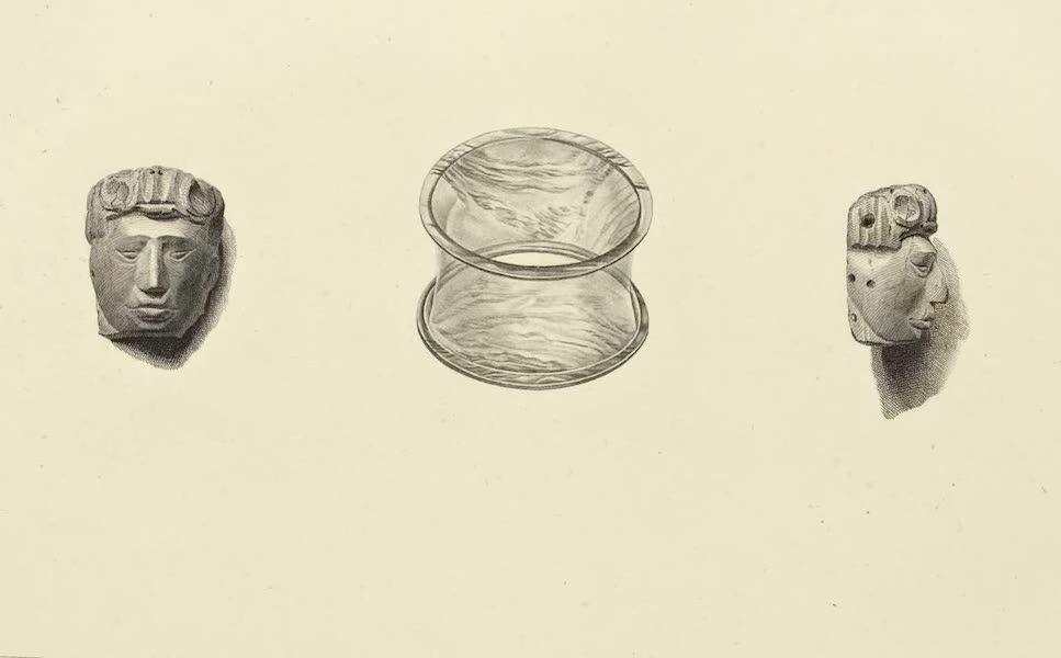 Vues des Cordilleres et Monumens de l'Amerique - Tete gravee en pierre dure par les Indiens Muyscas; bracelet d'obsidienne (1813)