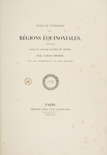 Vues et Paysages des Regions Equinoxiales - Title Page (1826)