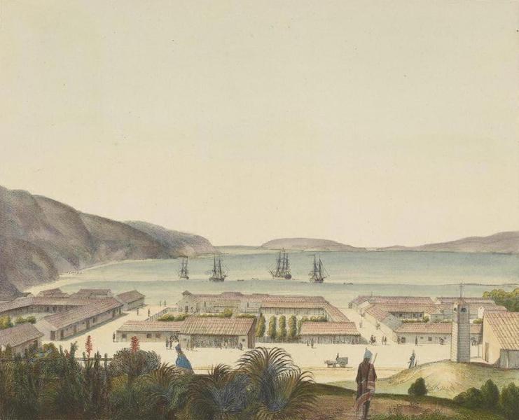 Vues et Paysages des Regions Equinoxiales - Vue de la Ville de Taleaguano et du Port de la Conception (Chili) (1826)