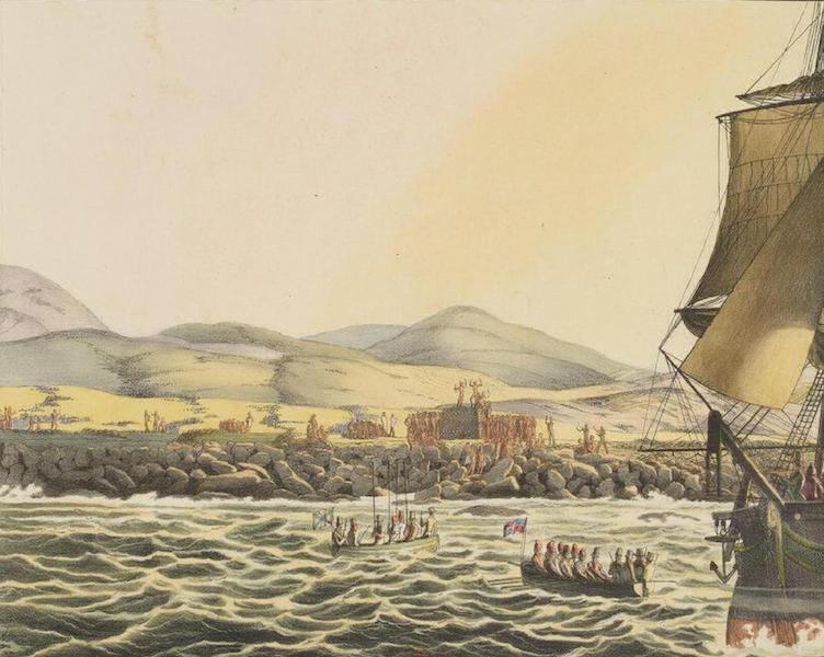 Vues et Paysages des Regions Equinoxiales - Vue de l'isle de Paques (1826)