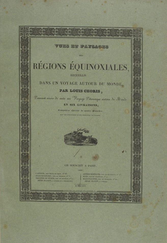 Exploration - Vues et Paysages des Regions Equinoxiales