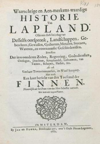 Natural History - Waarachtige en aen-merkens-waardige Historie van Lapland