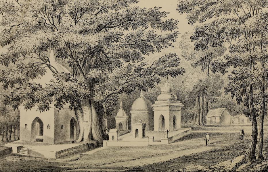 Wanderings of a Pilgrim, in Search of the Picturesque Vol. 1 - Temple of Bhawani and Suttees Alopee Bagh (1850)