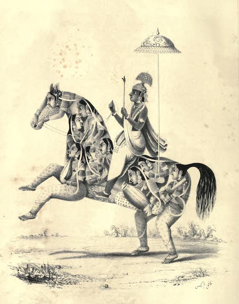 Wanderings of a Pilgrim, in Search of the Picturesque Vol. 2 - Kaniyajee and the Gopis (1850)
