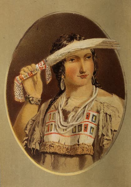 Wanderings of an Artist among the Indians of North America - Portrait of half-breed Cree Girl (1859)
