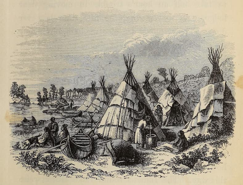 Wanderings of an Artist among the Indians of North America - Encampment amongst the Islands of Lake Huron (1859)