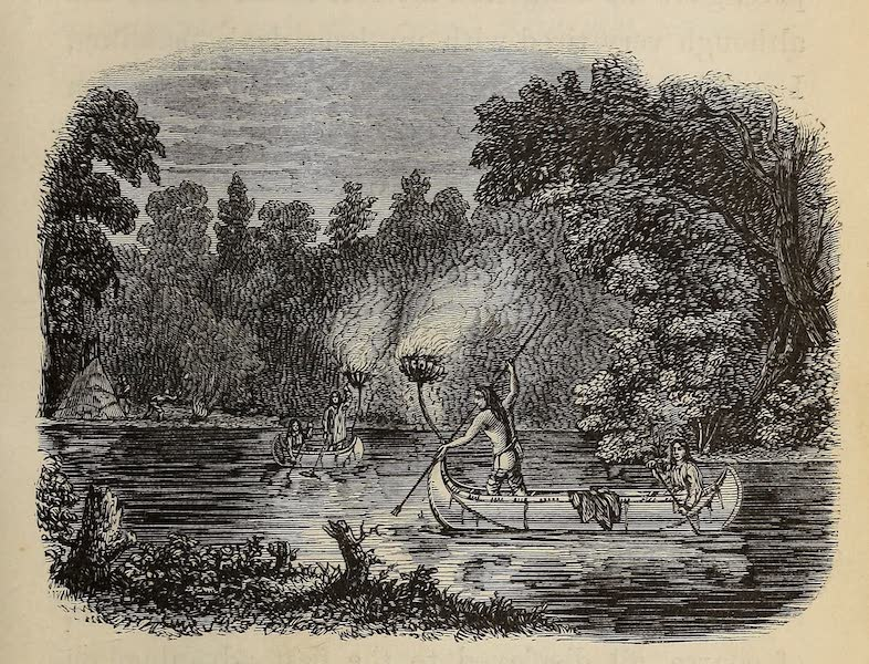 Wanderings of an Artist among the Indians of North America - Spearing by Torchlight on Fox River (1859)