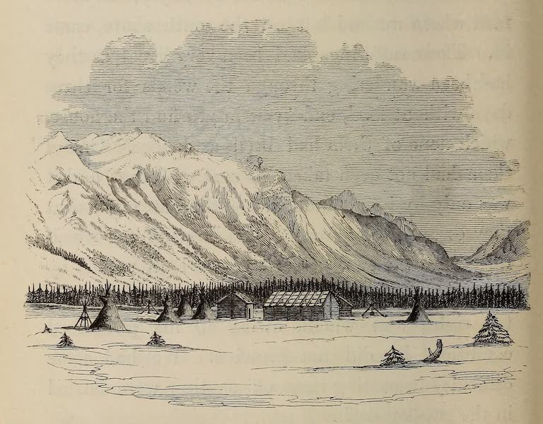 Wanderings of an Artist among the Indians of North America - Jaspar's House - Rocky Mountains (1859)