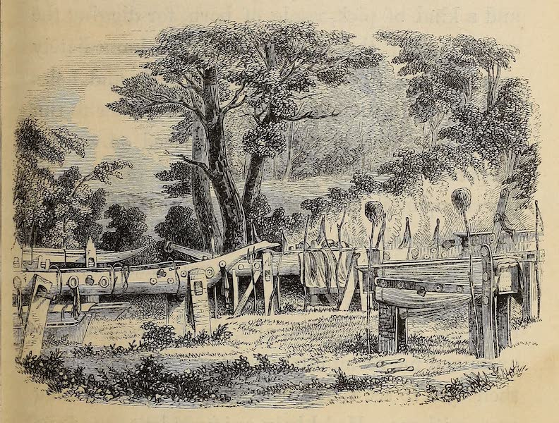 Wanderings of an Artist among the Indians of North America - Burial-place on the Cowlitz River (1859)