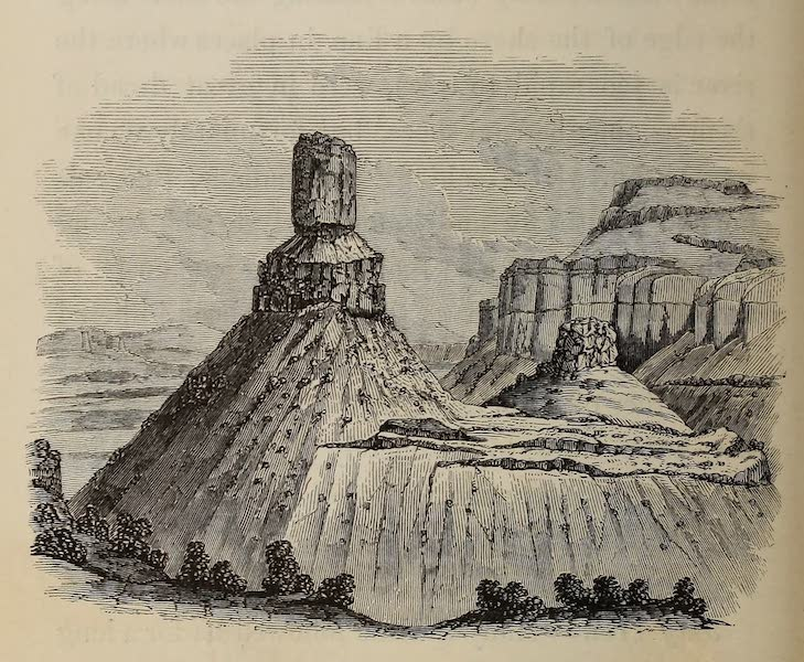 Wanderings of an Artist among the Indians of North America - Chimney Rock - Colombia River (1859)
