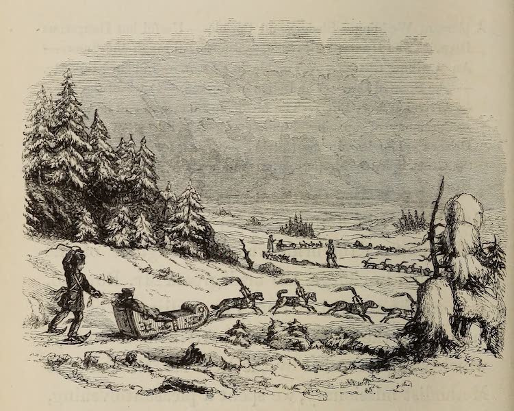 Wanderings of an Artist among the Indians of North America - Winter travelling in Dog-sleds  (1859)
