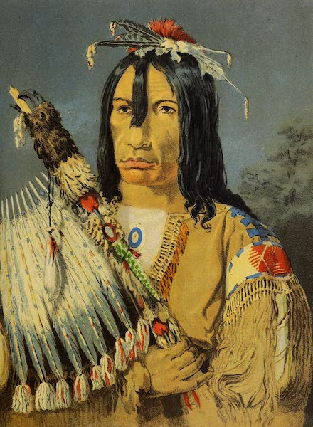 Wanderings of an Artist among the Indians of North America - Portrait of Kee-akee-ka-saa-ka-wow with Pipe-stem (1859)