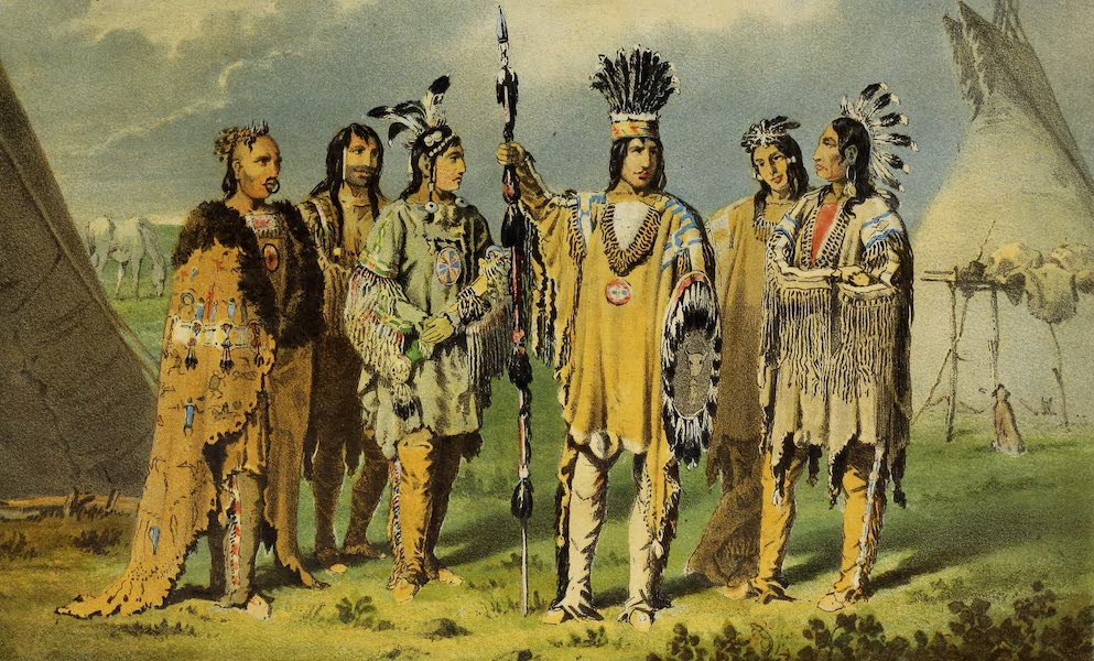 Wanderings of an Artist among the Indians of North America - Group of Six Indian Chiefs (1859)