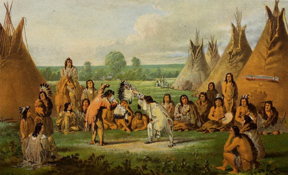 Wanderings of an Artist among the Indians of North America - Medicine Pipe-stem Dance (1859)