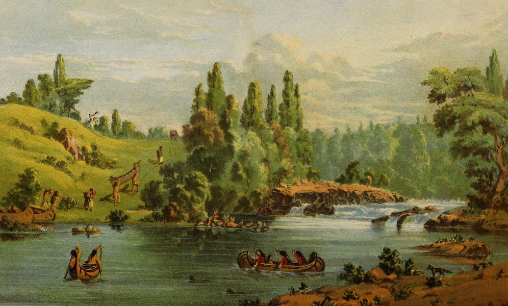 Wanderings of an Artist among the Indians of North America - White Mud Portage (1859)