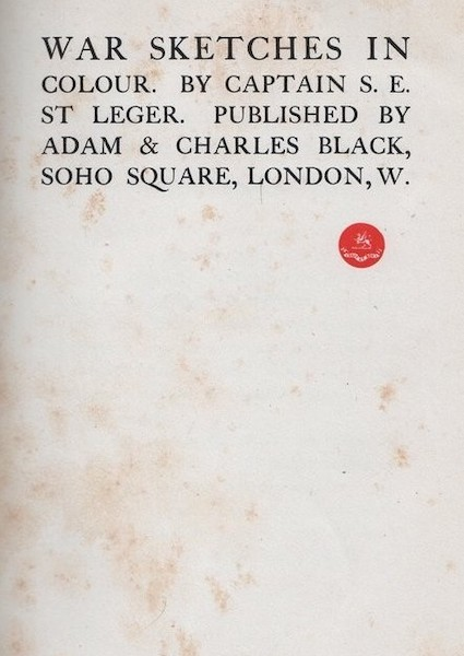 War Sketches in Colour - Title Page (1903)