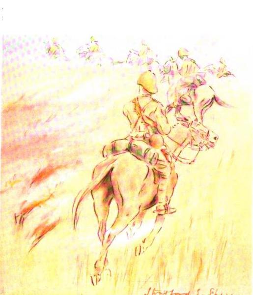 War Sketches in Colour - A Veldt Fire (1903)