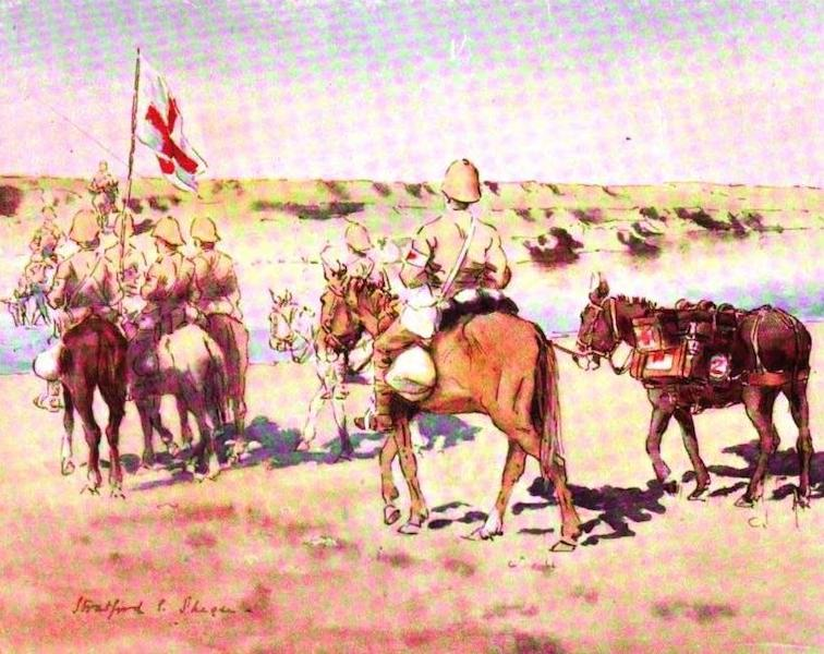 War Sketches in Colour - Mounted Infantry Stretcher-Bearers (1903)
