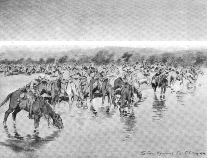 War Sketches in Colour - Watering Horses (1903)