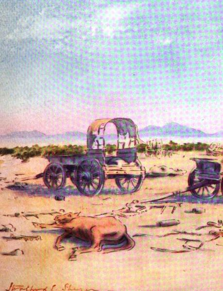 War Sketches in Colour - A Corner of Cronje's Laager at Paardeberg (1903)