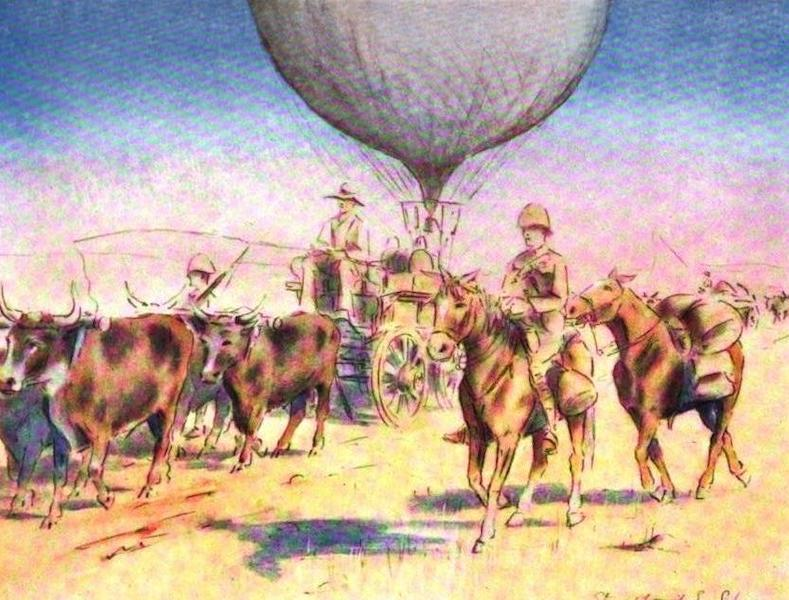 War Sketches in Colour - War Balloon on the March (1903)