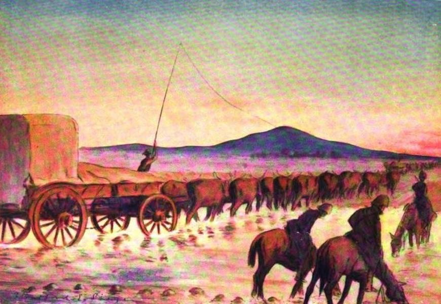 War Sketches in Colour - An Ox-Convoy (1903)