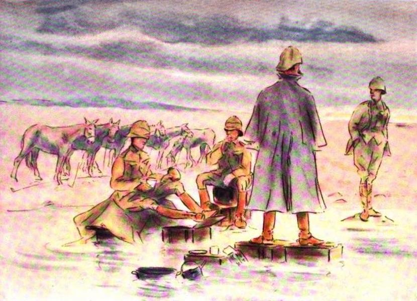 War Sketches in Colour - After a Storm at Kimberley (1903)